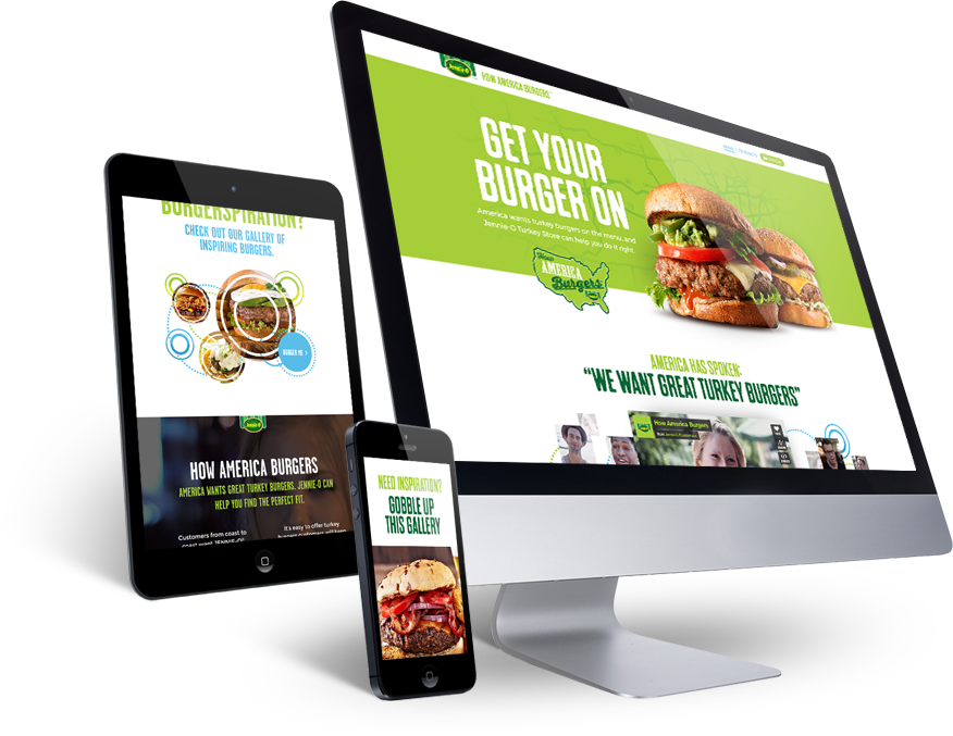 How America burgers on desktop, tablet, and mobile phone