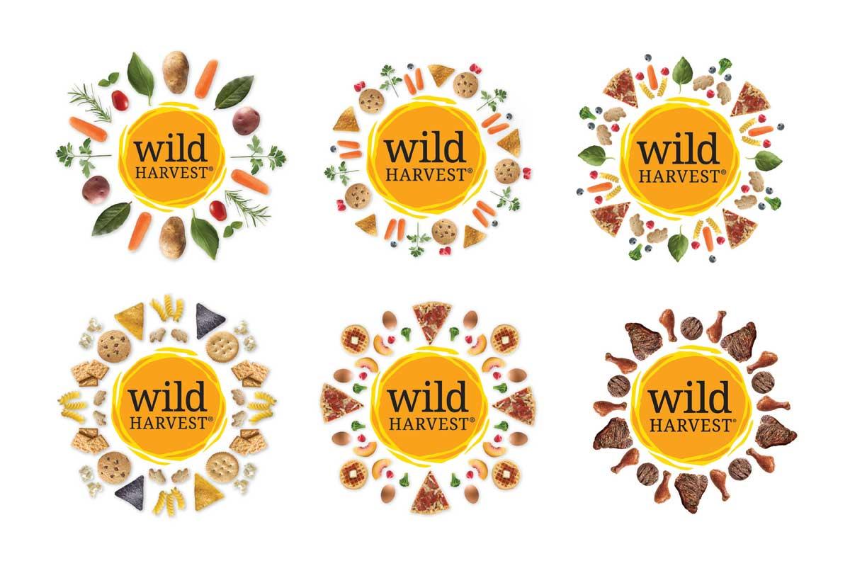 Wild Harvest logo variations
