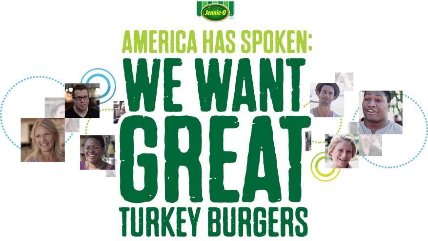 America haas spoken: we want great turkey burgers