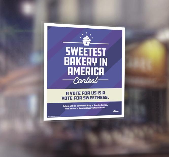 Sweetest Bakery In America window cling