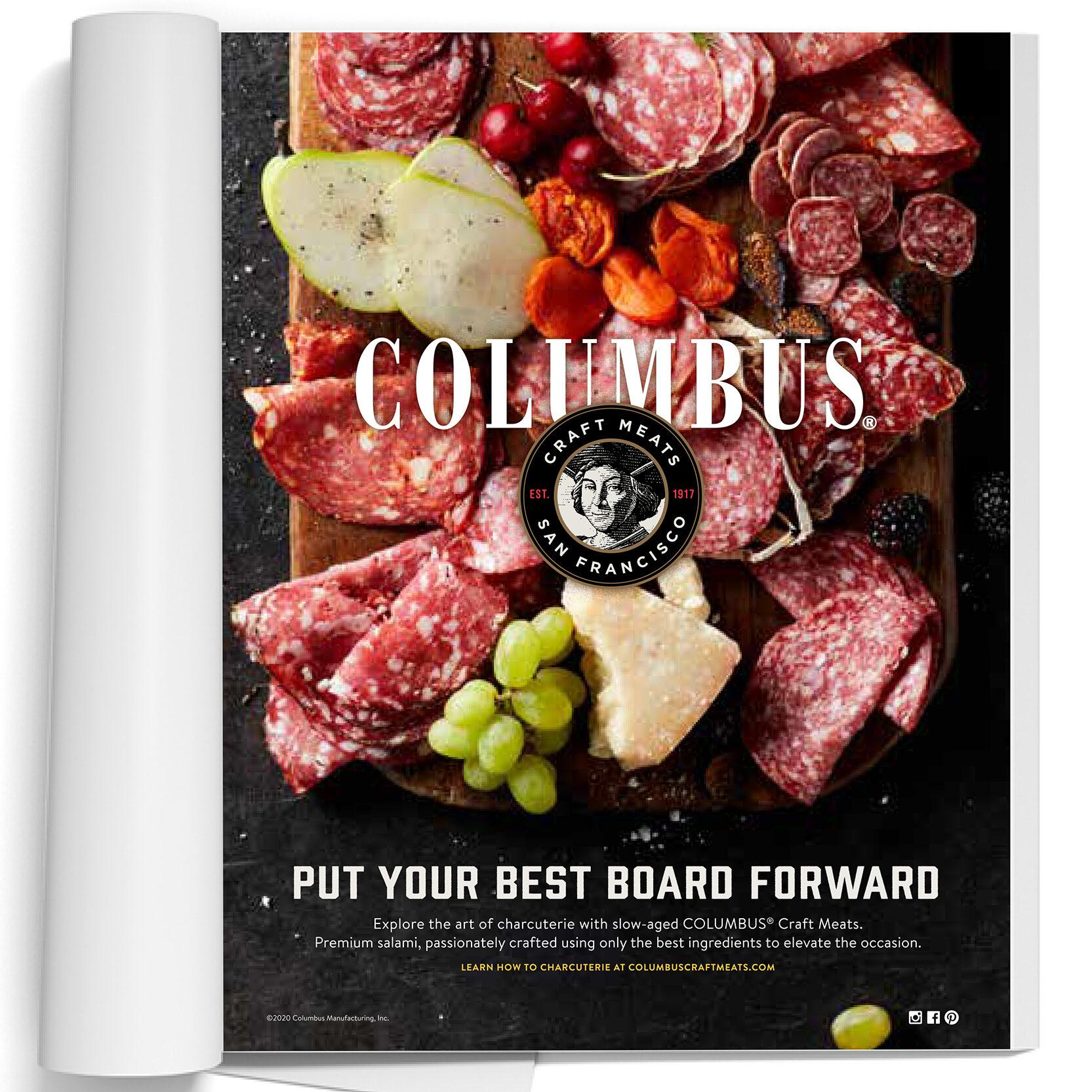 Columbus print ad, Put your best board forward