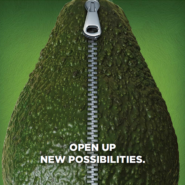 Open Up New Possibilities avocado with zipper