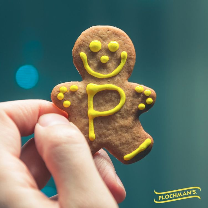 Plochmans Gingerbread man with mustard frosting