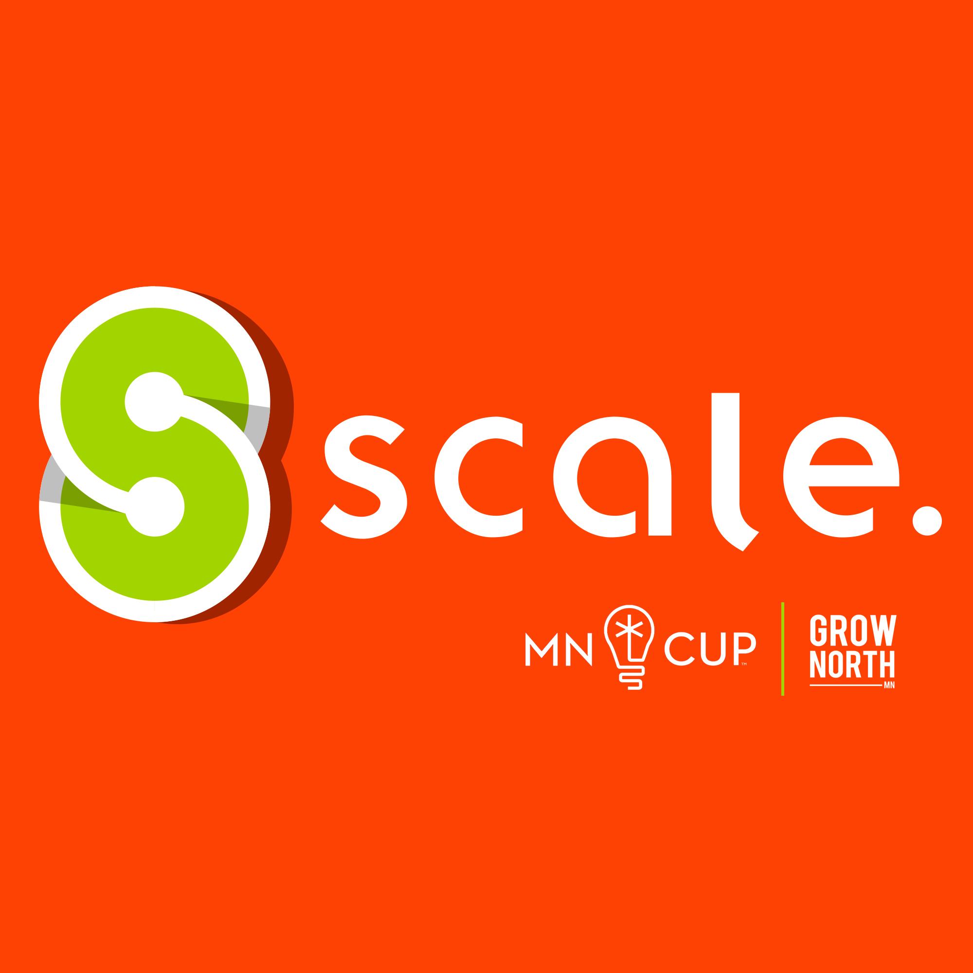 Scale logo on orange