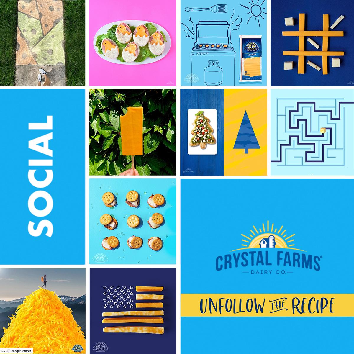 Crystal Farms Unfollow the Recipe Social Media
