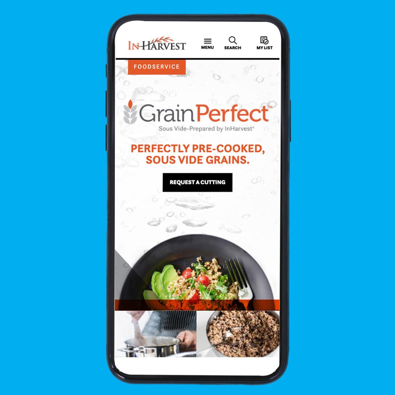 InHarvest Grain Perfect OLP on phone