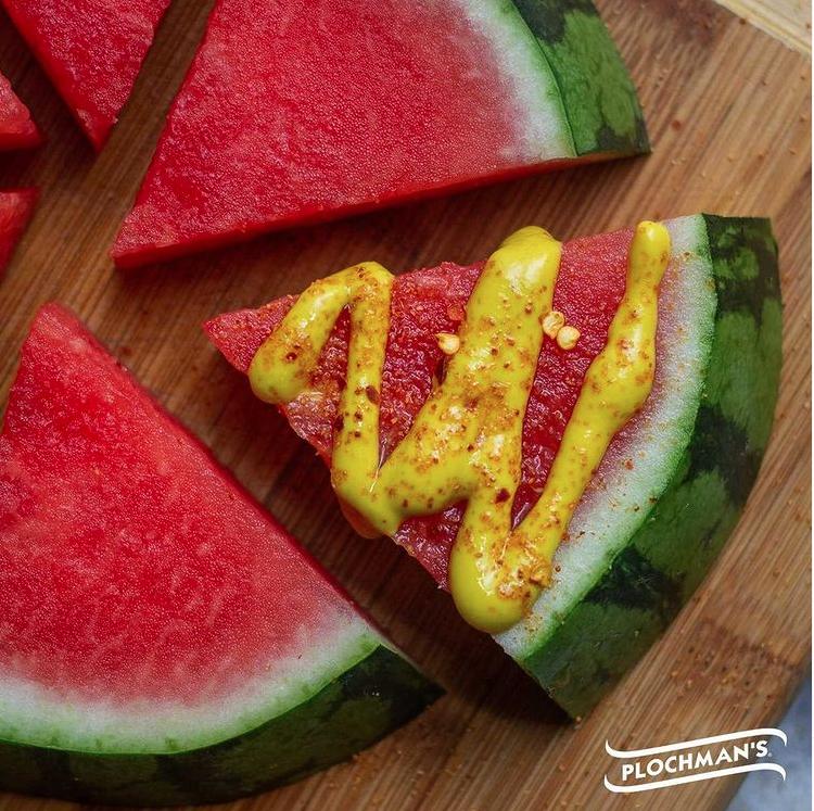 mustard-on-watermelon