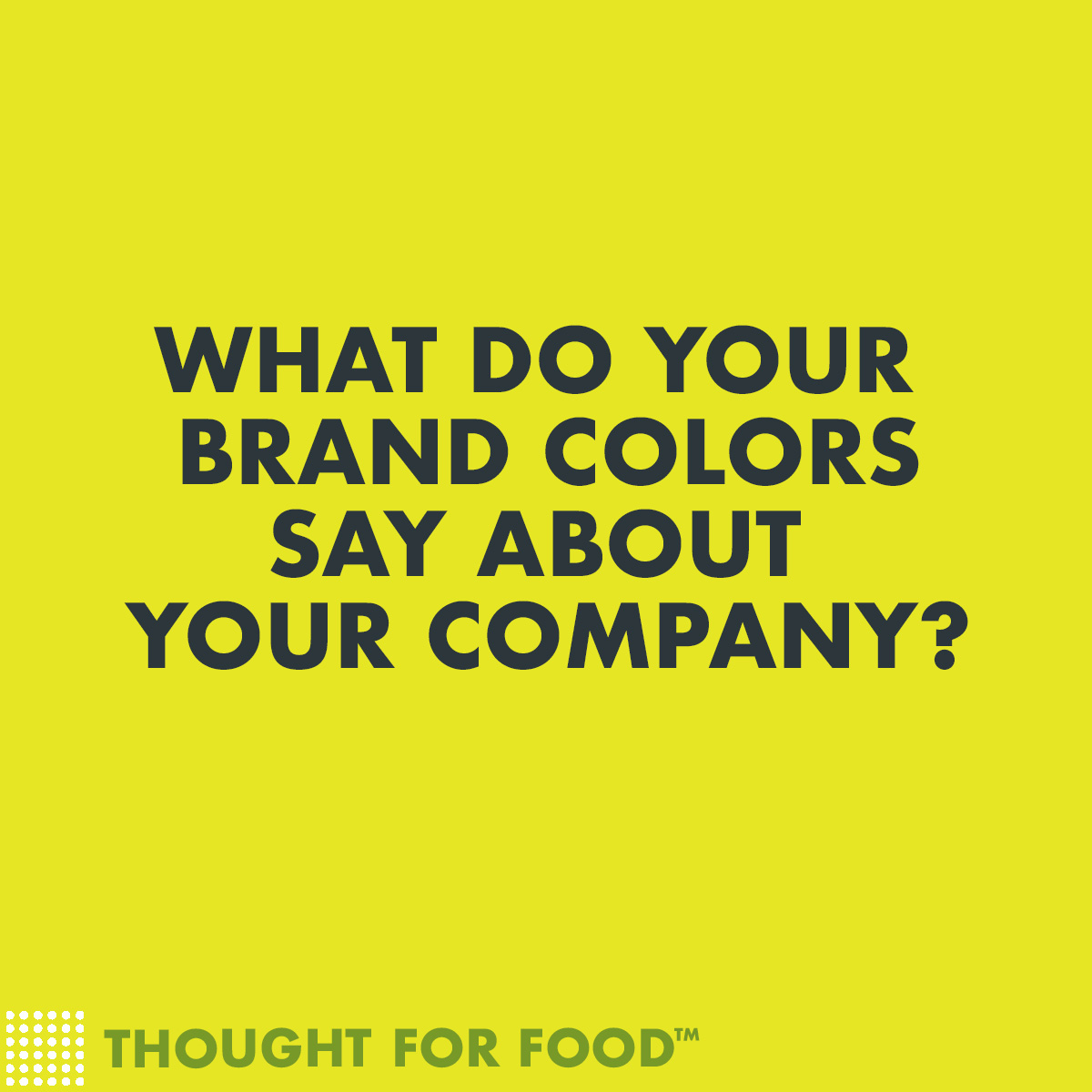 What do your brand colors say about your company?