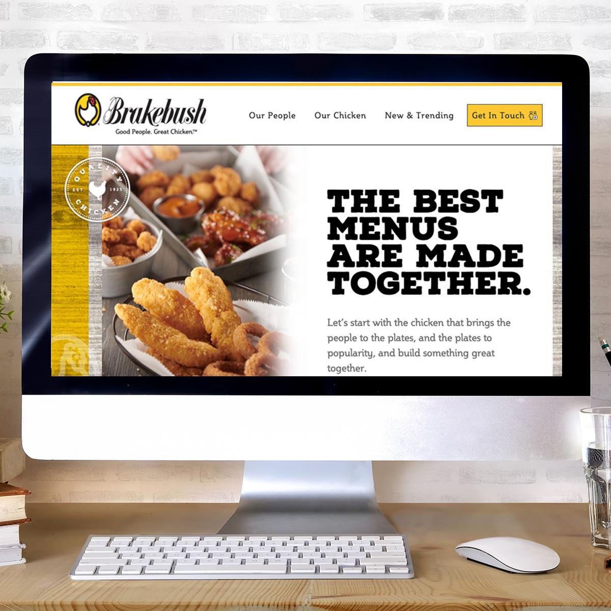 Desktop computer screenshot of Brakebush website